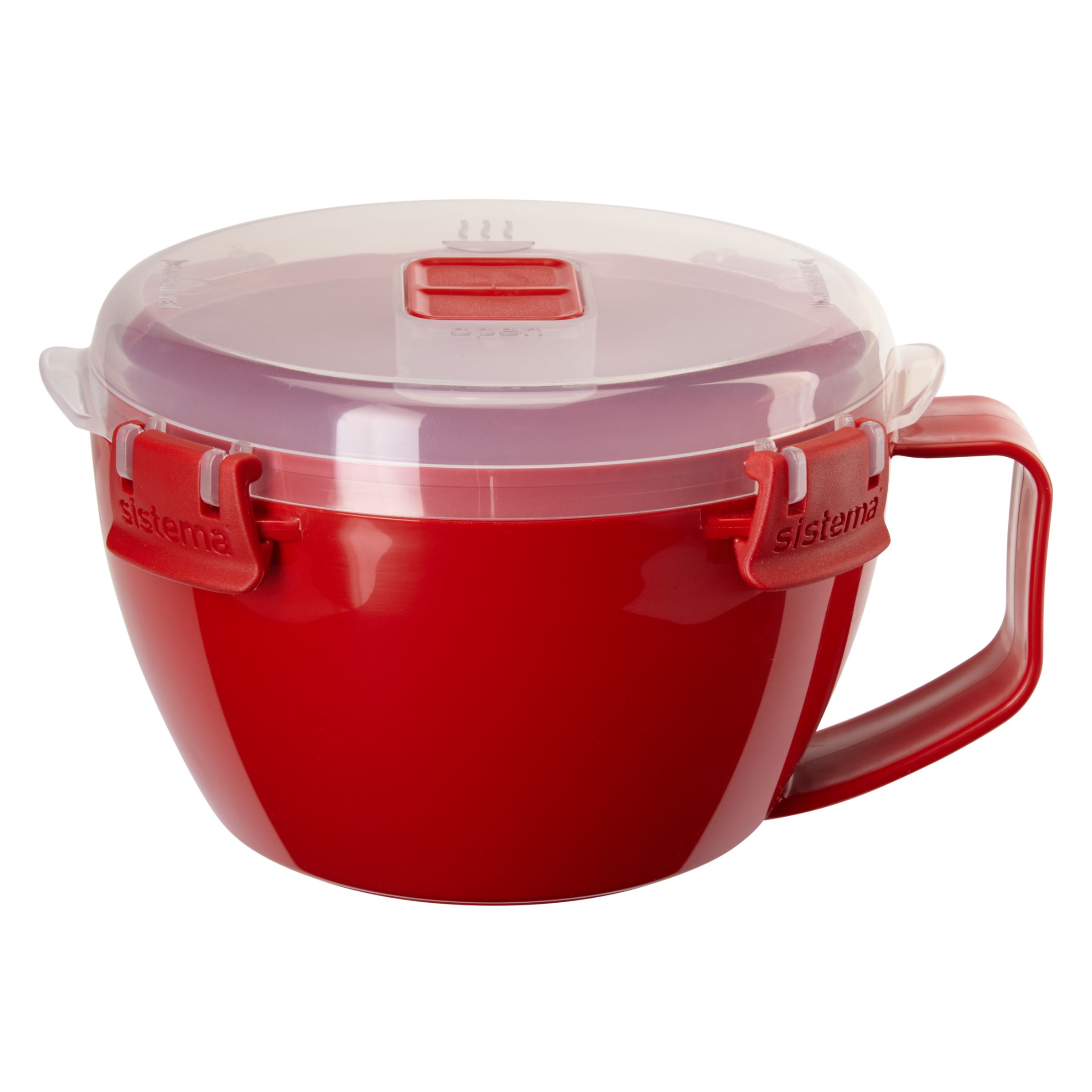 Sistema Noodles To Go Microwave Bowl, Red