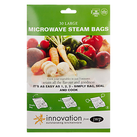 Buy Innovation Microwave Steam Bags, Pack of 30 Online at johnlewis.com