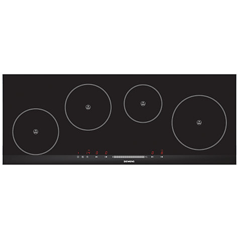 Buy Siemens EH975ME11E Induction Hob, Black Online at johnlewis.com