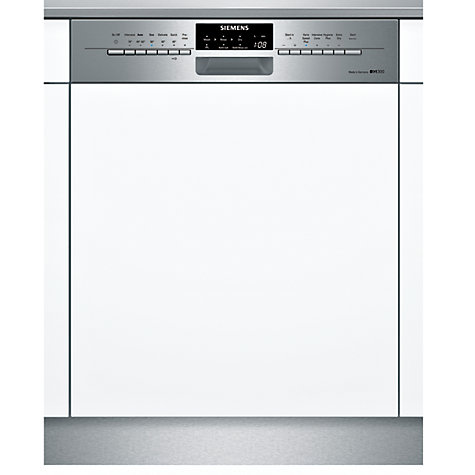 Buy Siemens SN56M530GB Semi-Integrated Dishwasher, Stainless Steel Online at johnlewis.com