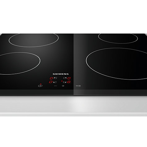 Buy Siemens ET651HE17E Ceramic Hob, Black Online at johnlewis.com