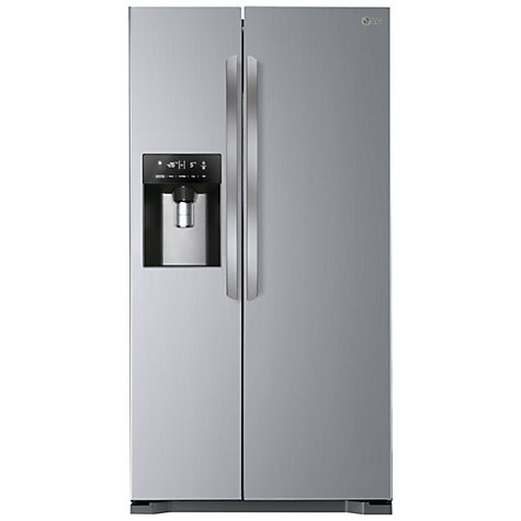 Buy LG GSL325NSYV American Style Fridge Freezer, Premium Steel Online at johnlewis.com
