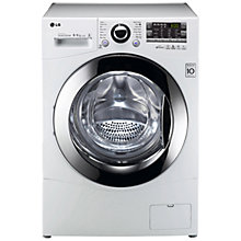 Buy LG F14A8RD Washer Dryer, 9kg Wash/6kg Dry Load, A Energy Rating, 1400rpm Spin, White Online at johnlewis.com