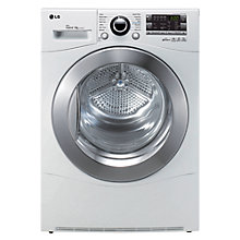Buy LG RC9055AP2Z Heat Pump Condenser Tumble Dryer, 9kg Load, A++ Energy Rating, White Online at johnlewis.com