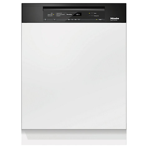 Buy Miele G6310 Sci Semi Integrated Dishwasher, Black Online at johnlewis.com