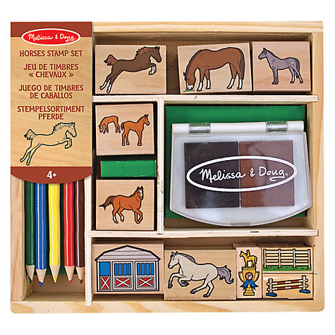 Buy Melissa & Doug Horse Stamp Kit Online at johnlewis.com