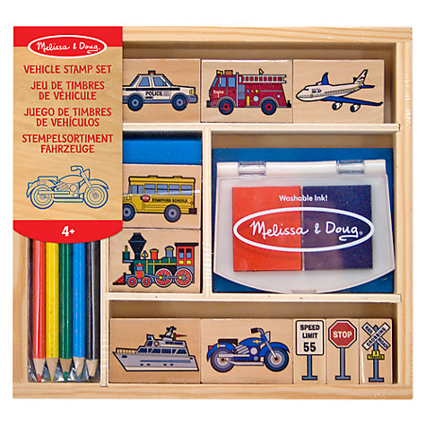 Buy Melissa & Doug Vehicle Stamp Kit Online at johnlewis.com