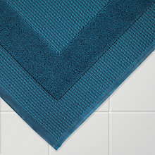 Buy John Lewis Croft Collection Waffle Bath Mat, Lake Blue Online at johnlewis.com