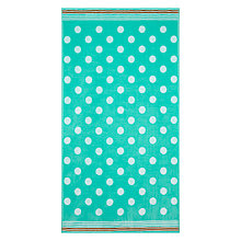 Buy John Lewis Spot Beach Towel, Aqua / Orange Online at johnlewis.com