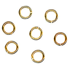 Buy John Lewis Gold Jump Rings, Pack of 100 Online at johnlewis.com