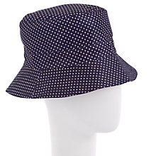 Buy John Lewis Packable Rain Hat, Navy Online at johnlewis.com