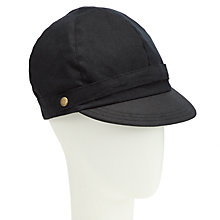 Buy John Lewis Waxed Bakerboy Cap, Black Online at johnlewis.com