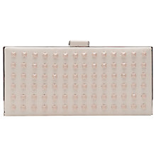 Buy French Connection Anya Clutch Classic Handbag, Cream Online at johnlewis.com