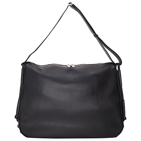 Buy French Connection Raven Leather Handbag, Black Online at johnlewis.com