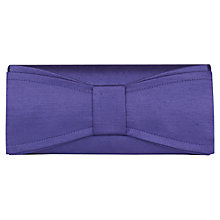 Buy Jacques Vert Bow Detailed Clutch, Purple Online at johnlewis.com