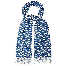 Buy White Stuff Doggie Print Scarf, Dark Sky Blue Online at johnlewis.com
