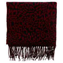 Buy Warehouse Animal Jacquard Scarf, Bright Red Online at johnlewis.com