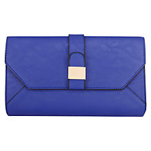 Buy Warehouse Tab Clutch Bag, Bright Blue Online at johnlewis.com