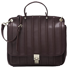 Buy French Connection Satchel Handbag, Wine Online at johnlewis.com