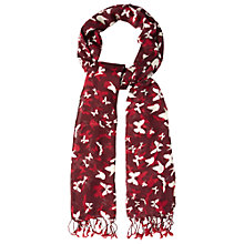 Buy White Stuff Butterfly Scene Scarf, Red Multi Online at johnlewis.com