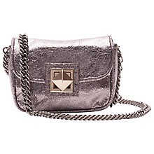 Buy French Connection Piper Small Shoulder Handbag, Silver Online at johnlewis.com
