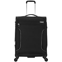 Buy Antler Cyberlite 4-Wheel Medium Suitcase, Black/Silver Online at johnlewis.com