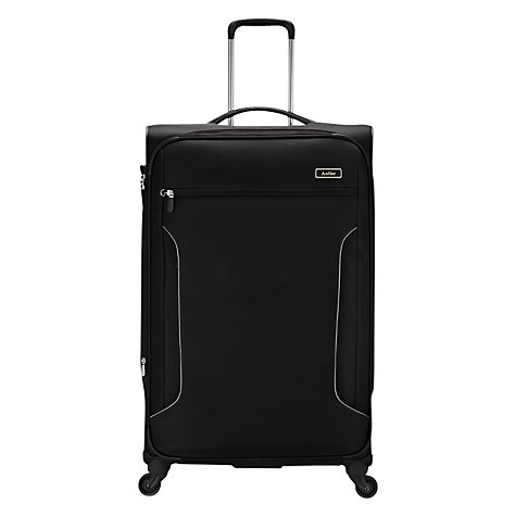 Buy Antler Cyberlite 4-Wheel Large Spinner Suitcase, Black/Silver Online at johnlewis.com