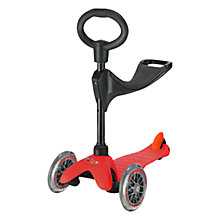 Buy Micro Mini Micro 3-in-1 Scooter with Seat and O-Bar Handle, Red Online at johnlewis.com