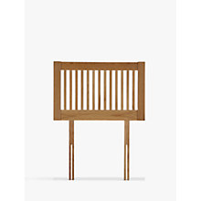 Buy John Lewis Cannes Headboard, Oak, Single Online at johnlewis.com