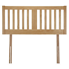 Buy John Lewis Cole Headboard, White, Kingsize Online at johnlewis.com