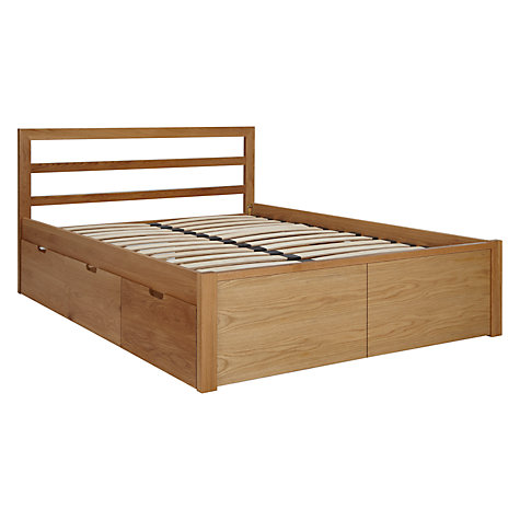Buy House by John Lewis Ollie Storage Bed, King Size, Oak Online at johnlewis.com