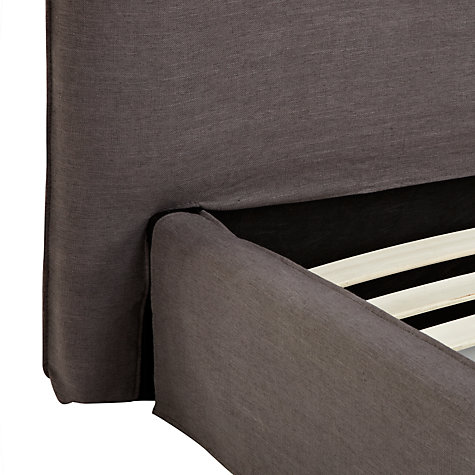 Buy John Lewis Louise Bedstead, Super Kingsize, Grey Online at johnlewis.com