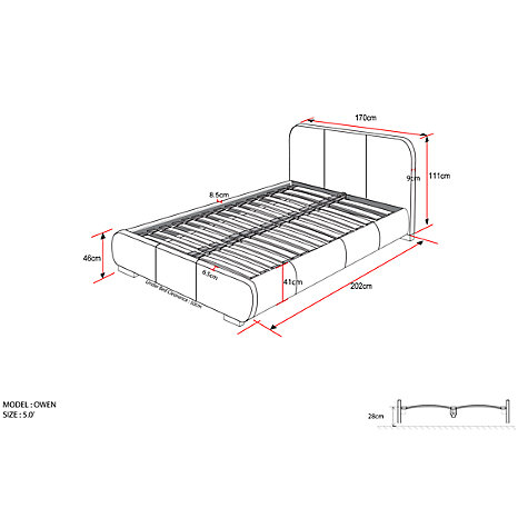 Buy John Lewis Owen Bed Frame, King Size Online at johnlewis.com