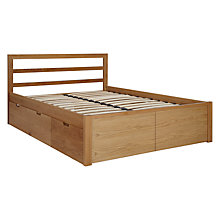 Buy John Lewis Ollie Storage Bed, Double, Oak Online at johnlewis.com
