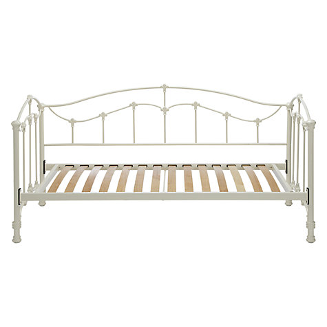 Buy John Lewis Daisy Day Bed Frame, Single, Cream Online at johnlewis.com