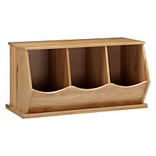 Buy little home at John Lewis Stackable Storage Box, Triple, Oak Online at johnlewis.com