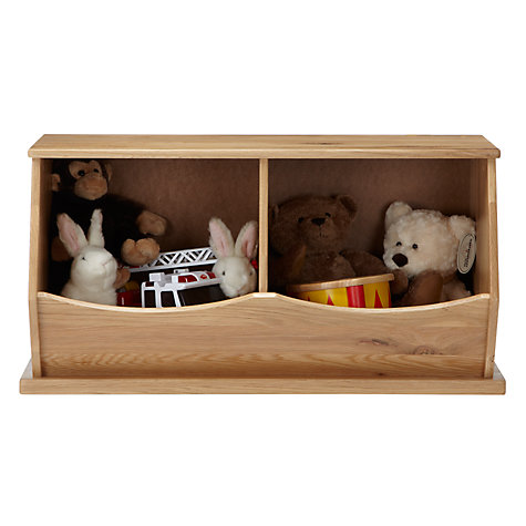 Buy little home at John Lewis Storage Box, Double, Oak Online at johnlewis.com