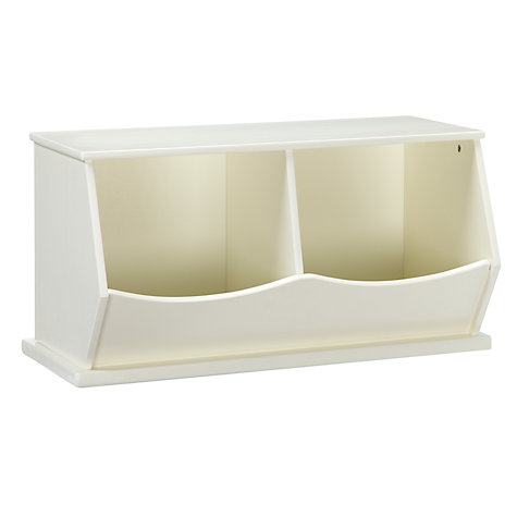 Buy little home at John Lewis Storage Box, Double, White Online at johnlewis.com