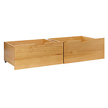 Buy John Lewis Wilton Underbed Pine Drawers, Set of 2, Natural Online at johnlewis.com