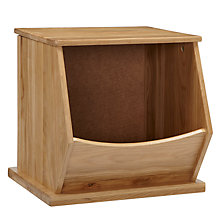 Buy little home at John Lewis Storage Box, Single, Oak Online at johnlewis.com