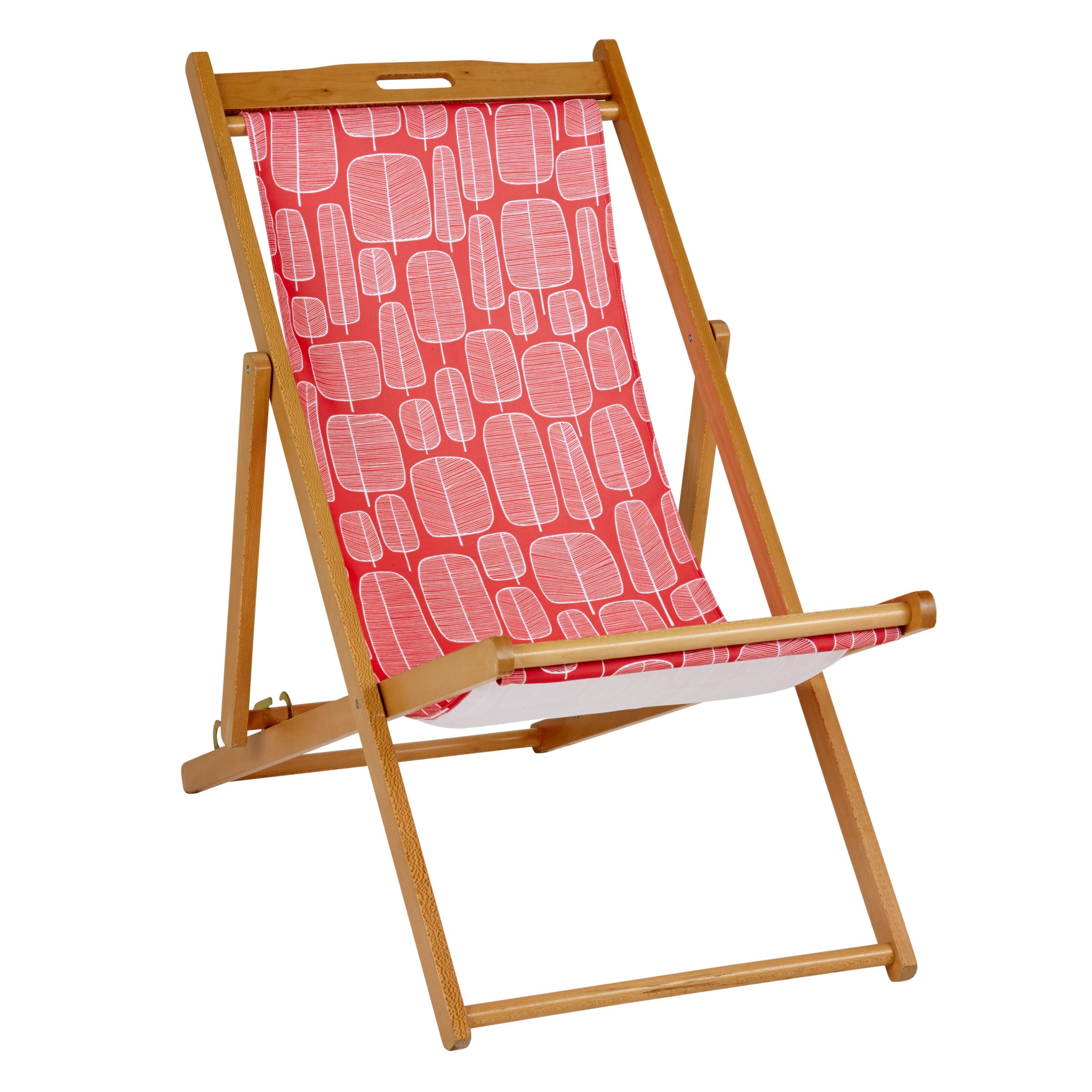 MissPrint Little Trees Deckchair Cover, Chilli