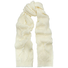 Buy Whistles Cable Stitch Scarf, Cream Online at johnlewis.com