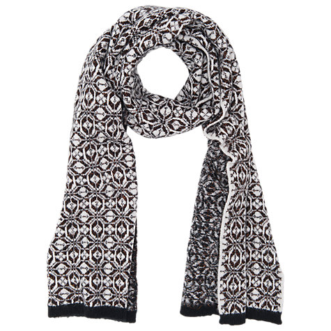 Buy French Connection Cristy Scarf, Black/Willow White/Rose Online at johnlewis.com