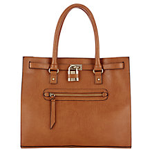 Buy Warehouse Zip Front Padlock Shopper, Tan Online at johnlewis.com