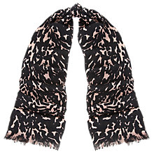 Buy Whistles Smudge Print Scarf, Pink/Multi Online at johnlewis.com