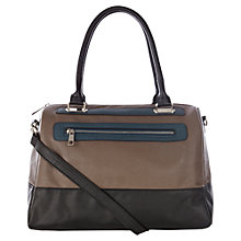 Buy Warehouse Colour Block Bowling Bag, Mink Online at johnlewis.com