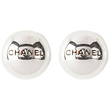 Buy Susan Caplan Vintage 1990s Chanel Silver Toned Clip-On Earrings Online at johnlewis.com