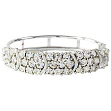 Buy Susan Caplan Vintage 1960s Lisner Swarovski Crystal Hinged Bangle, Silver Online at johnlewis.com