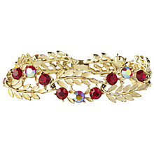 Buy Susan Caplan Vintage 1950s Lisner Gold Plated Swarovski Crystal Bracelet, Red Online at johnlewis.com