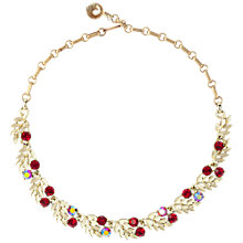 Buy Susan Caplan Vintage 1950s Lisner Gold Plated Swarovski Crystal Necklace, Red Online at johnlewis.com